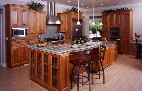 kitchen cabinets - custom built home - patrician