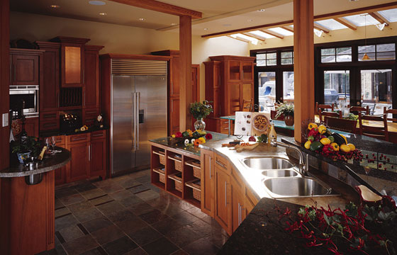kitchen cabinets - custom built house