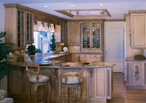 kitchen cabinets - custom built home - Bridgeport