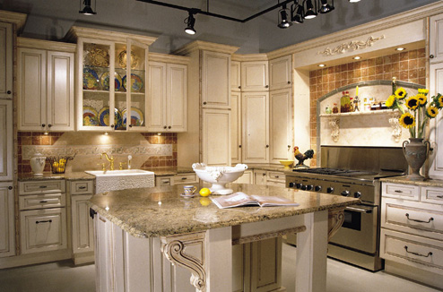 kitchen cabinets - custom built house - lexington